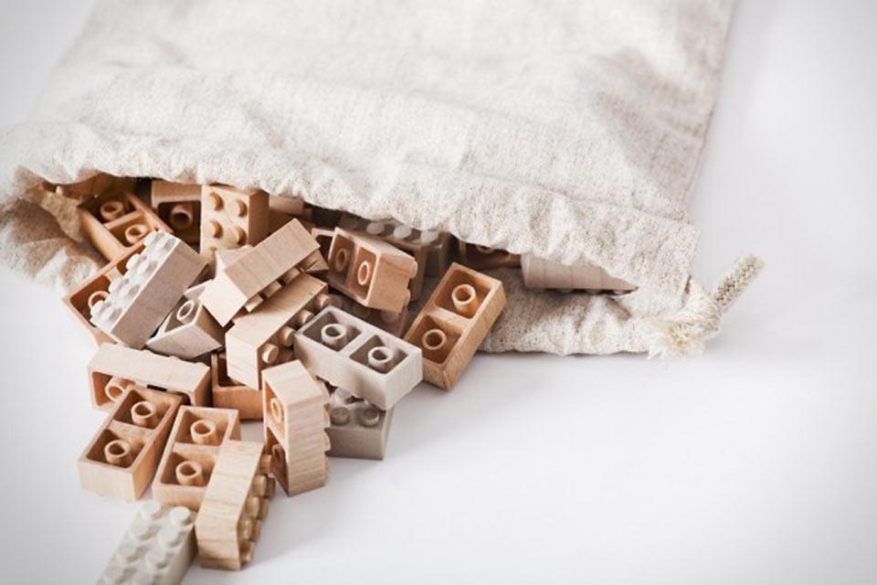 Деревянный конструктор Lego