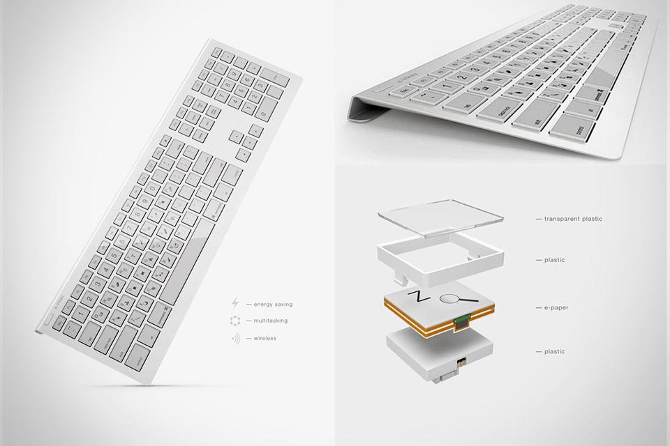 Клавиатура с изменяемыми клавишами E-inkey