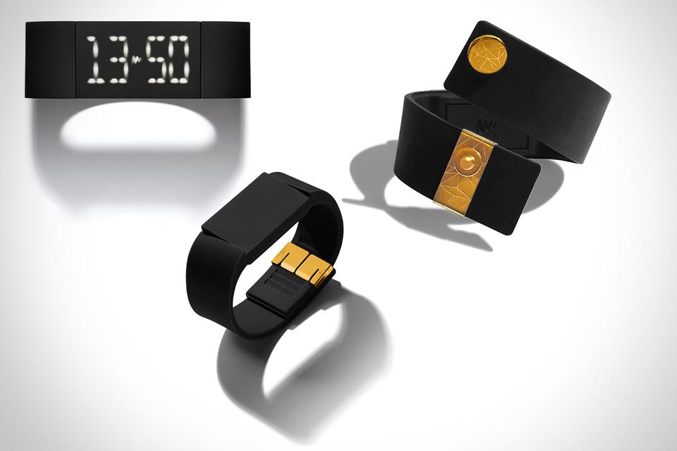 Часы из резины и золота Mutewatch Svart