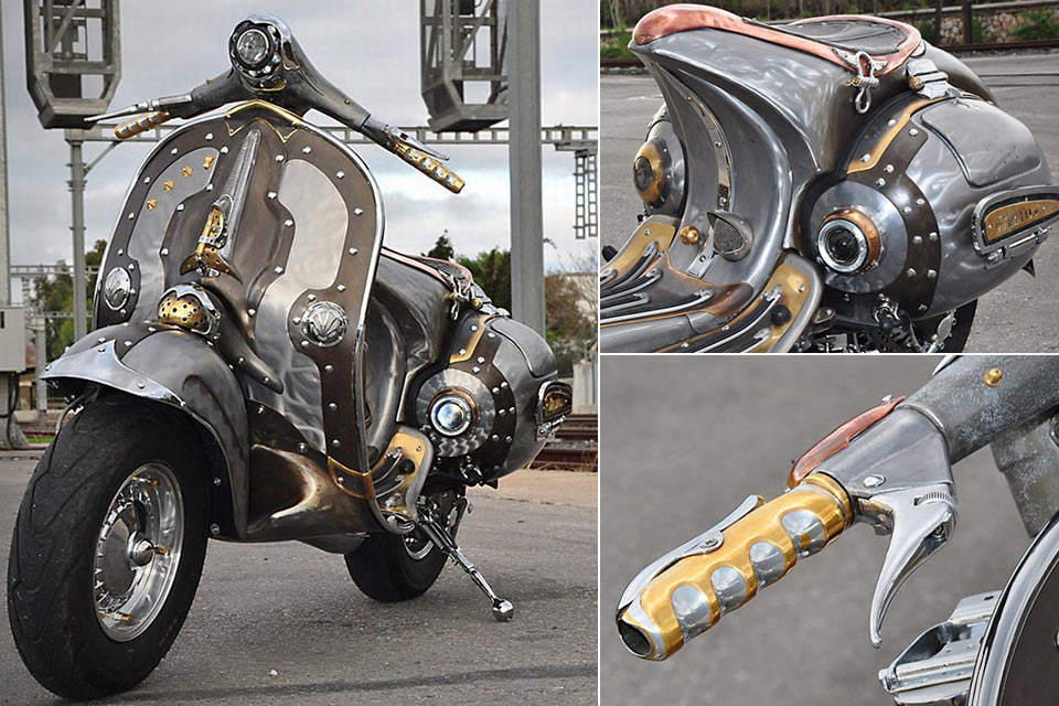 Стимпанк-скутер Vespa Guardian