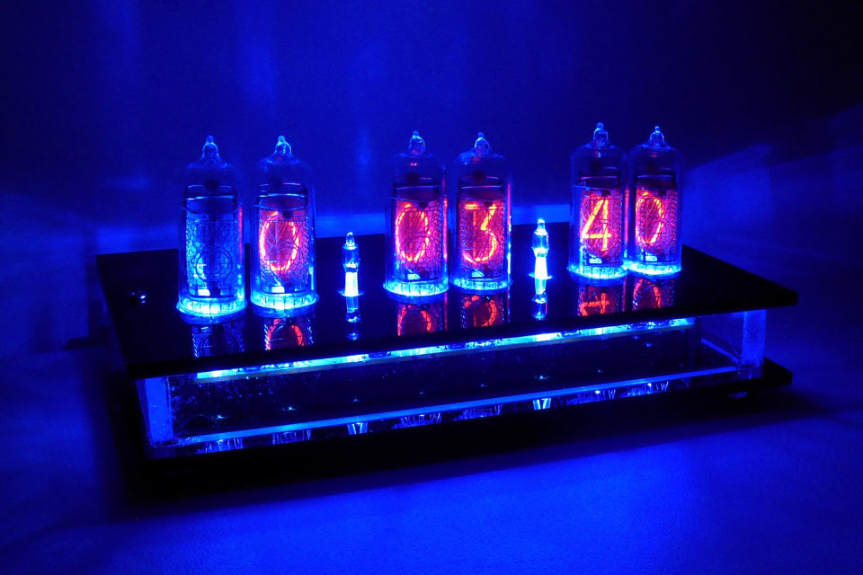 Газоразрядные часы Six Digit Nixie Tube Clock