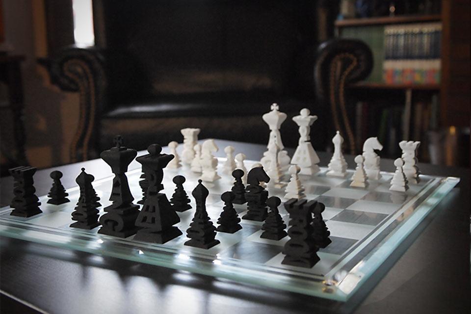 Шахматы Typographical Chess Set