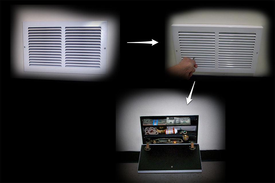Скрытый стенной сейф Air Vent Hidden Safe