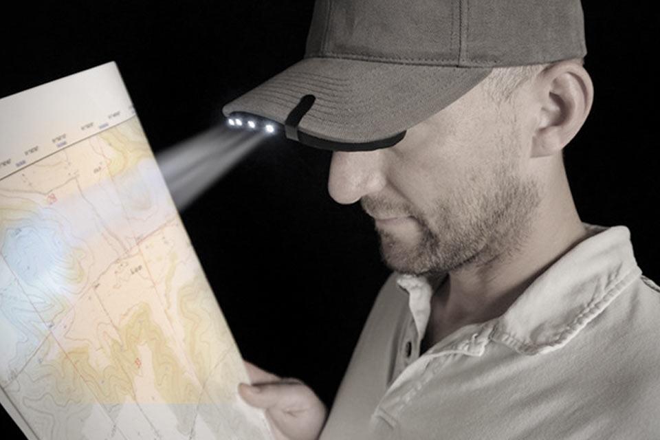 Диодный фонарь BrimLit LED Hat Light для козырька