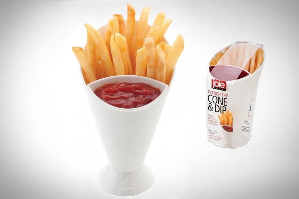 Посуда для картошки фри French Fry Cone & Dip
