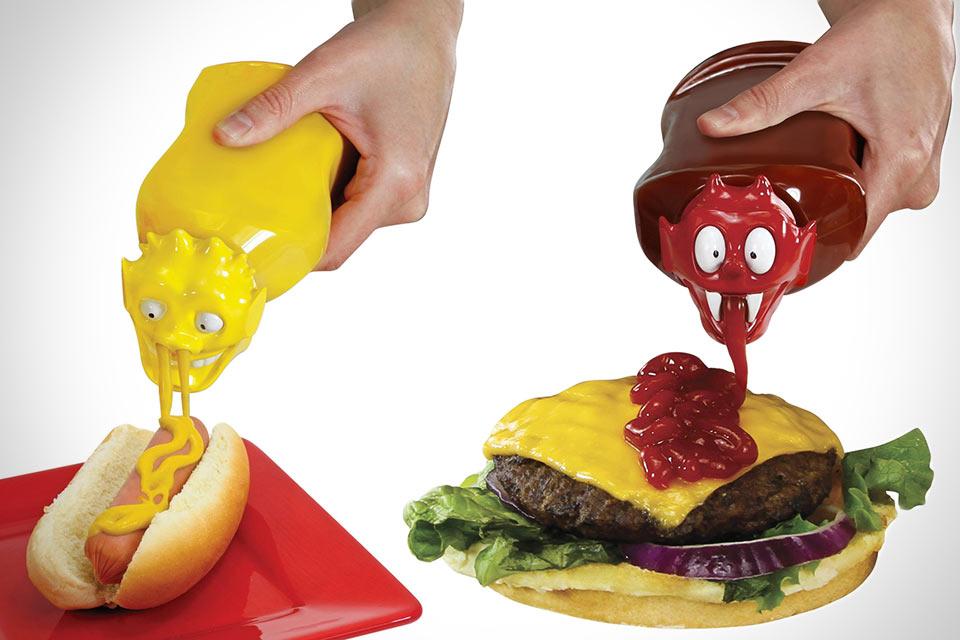 Насадки для кетчупа и горчицы Monster Squeeze Tops
