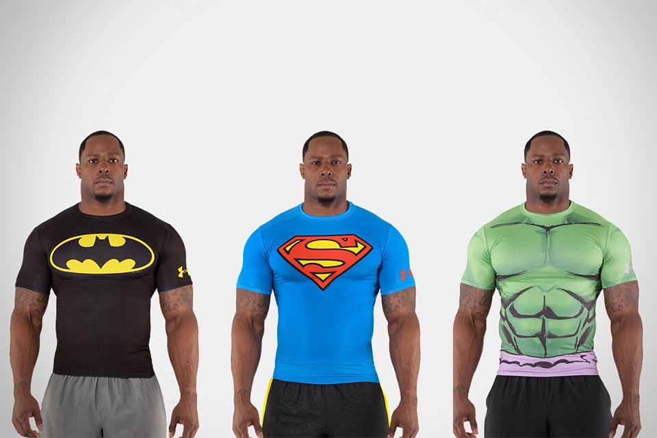 Супергеройские футболки Under Armour Alter Ego Baselayer