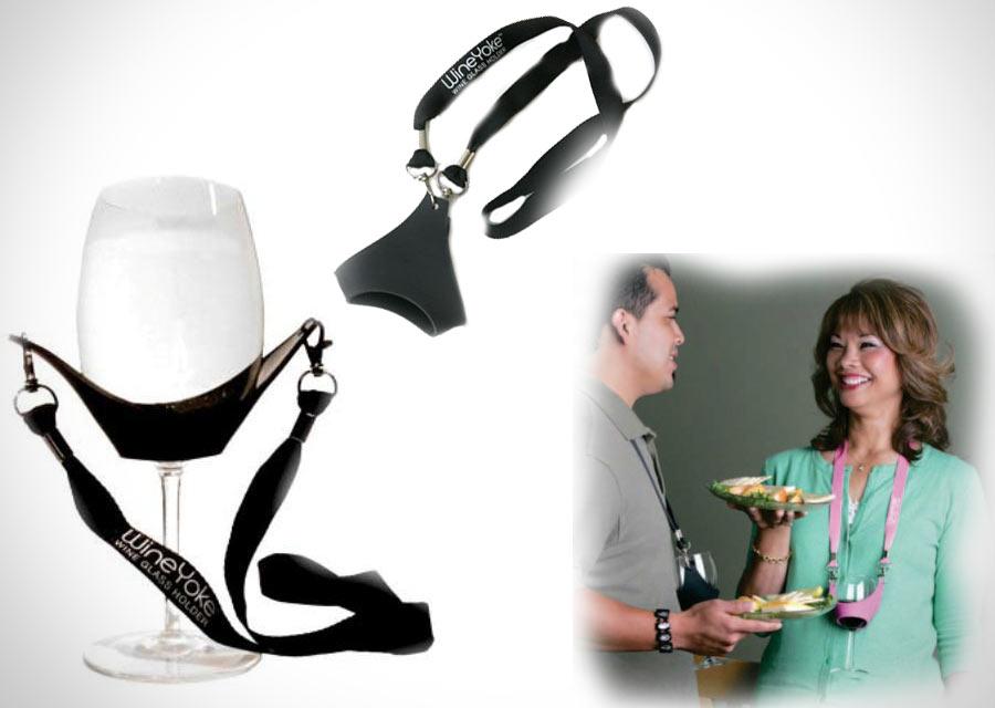 Держатель для бокала Wine Yoke Glass Holder