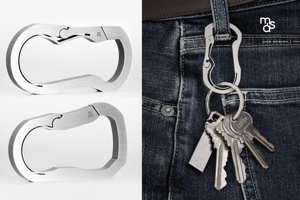 Карабин для ключей Bauhaus Series / Titanium Carabiners