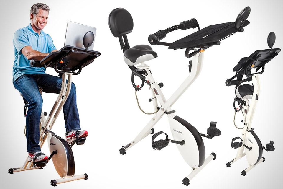 Велосипедный тренажер со встроенным рабочим столиком FitDesk X1
