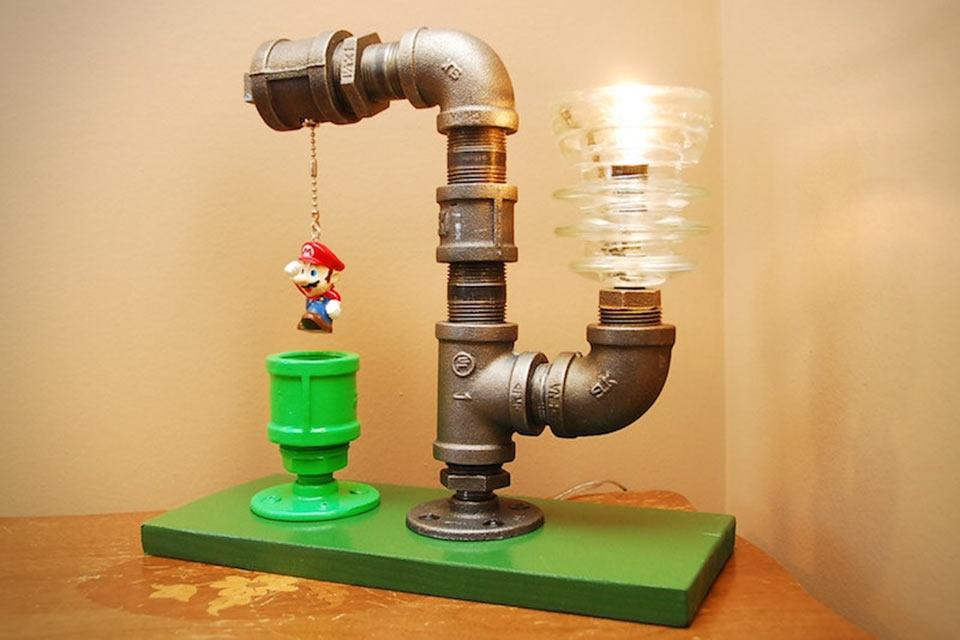 Настольная лампа Mario Industrial Pipe Lamp