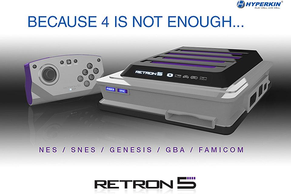 Ностальгическая игровая консоль Retron 5