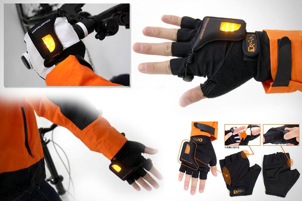 Велосипедные перчатки с поворотниками LED Globe Gloves