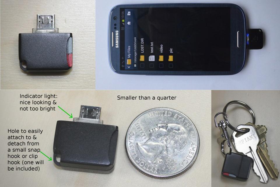 Кардридер для Android-устройств Mini MicroSD Reader