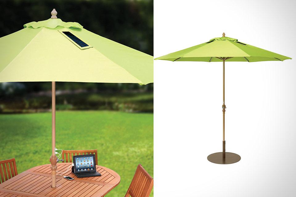 Стационарный зонт с солнечным ЗУ USB-Charging Solar Market Umbrella
