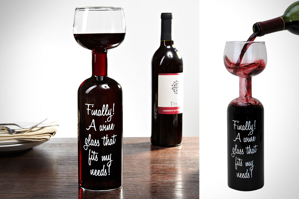 Мегабокалл для вина Wine Bottle Glass