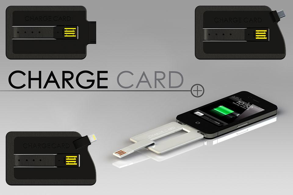 Зарядный кабель в формате кредитки ChargeCard