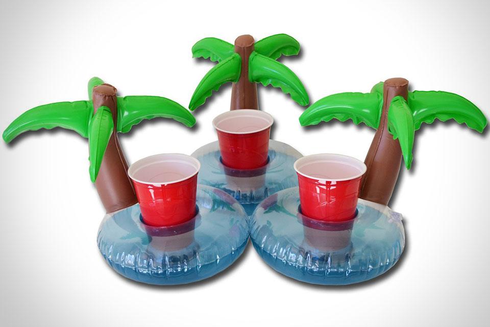 Плавучий держатель для стаканов Go Pong Floating Palm Island