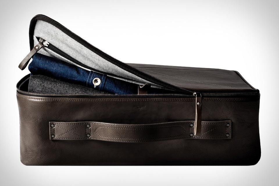Кожаный чемодан Hard Graft Carry On