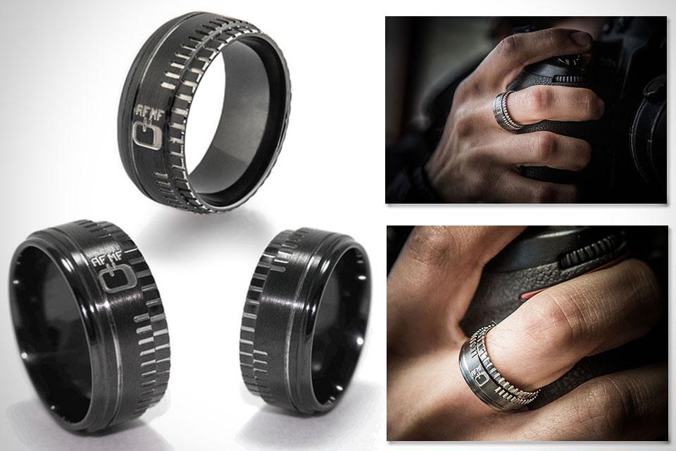 Обручальные кольца для фотографов Camera Lens Ring