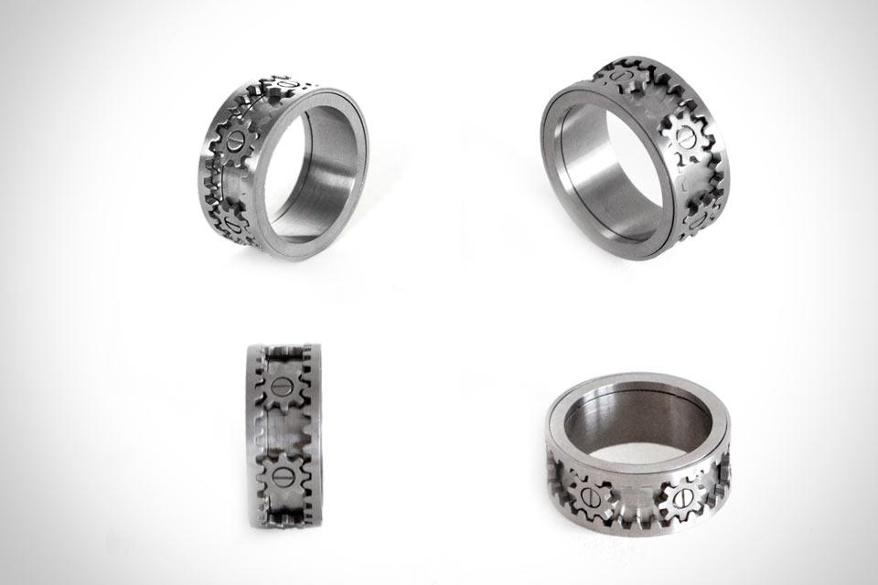 Кольцо с движущимся механизмом Gear Ring