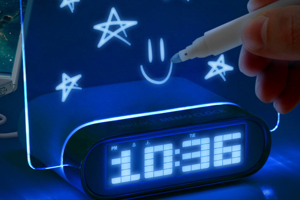 Glowing-Memo-Alarm-Clock