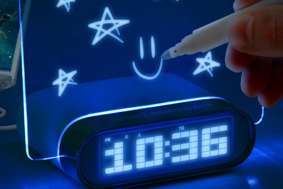 Будильник с напоминаниями Glowing Memo Alarm Clock