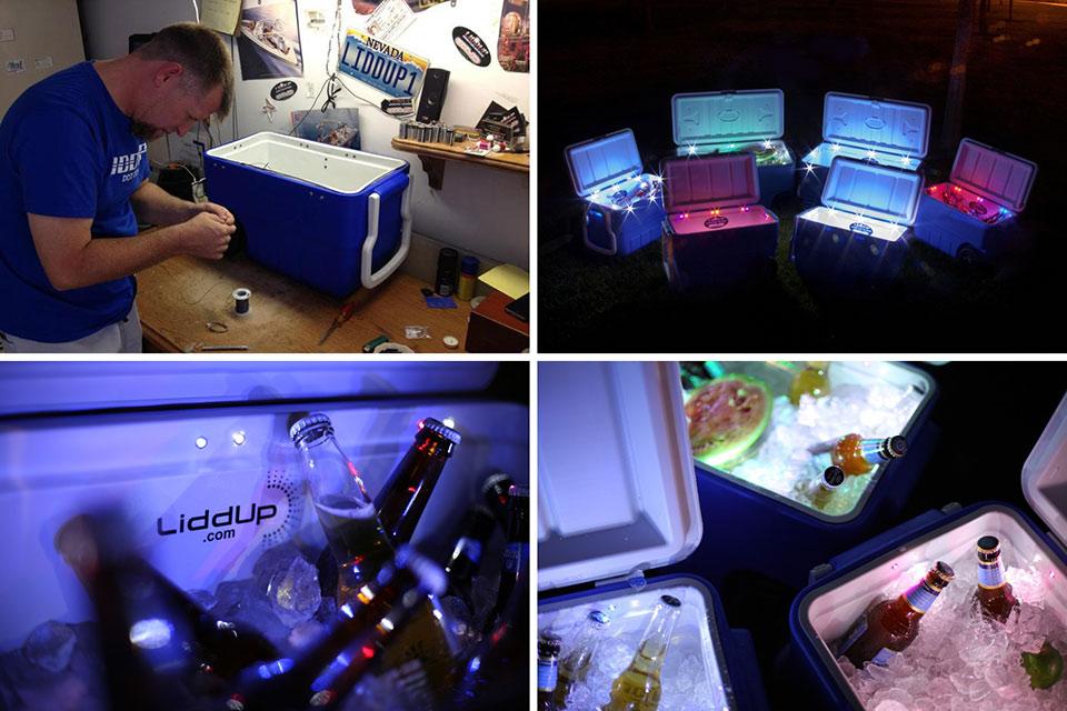 Светящийся кулер для напитков LiddUp Cooler