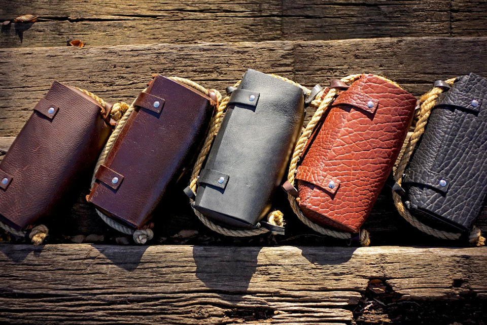 Кожаный несессер HoldFast The Triple Leather Dopp Kit