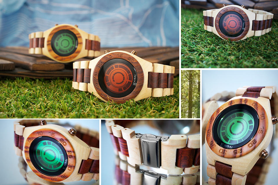Деревянные часы TokyoFlash Kisai Rogue Wood Watch