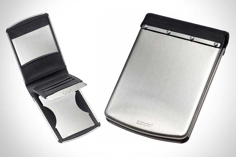 Стальной кошелек Zippo