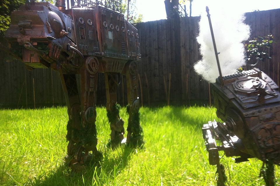Стимпанк-модели роботов Star Wars AT-AT и AT-ST