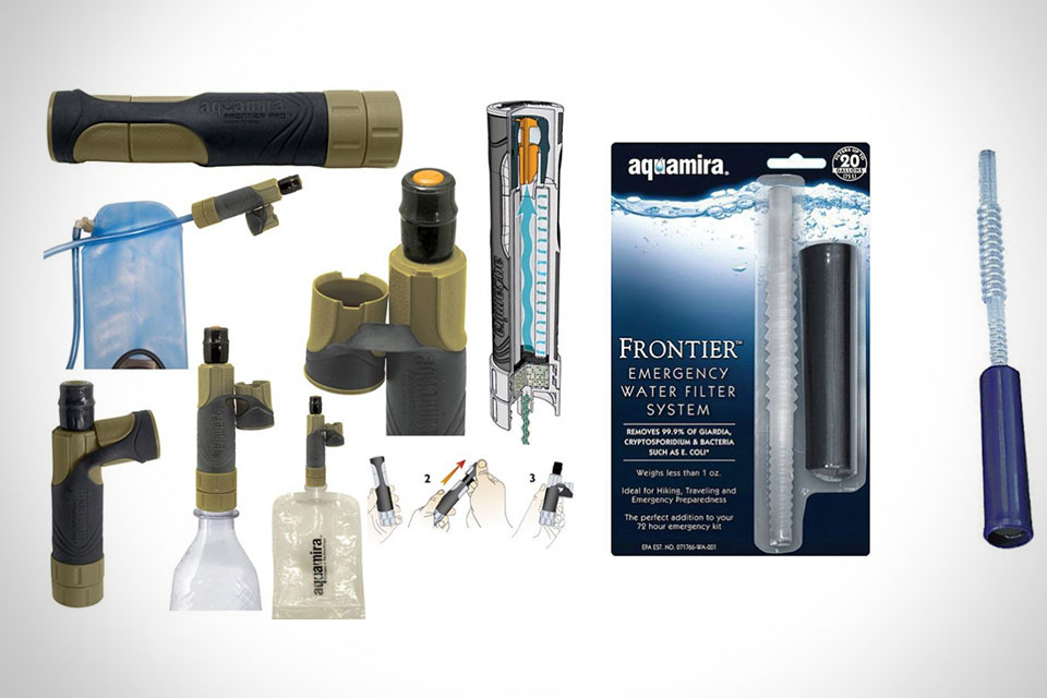 Портативные системы фильтрации воды Aquamira Frontier и Frontier Pro Military