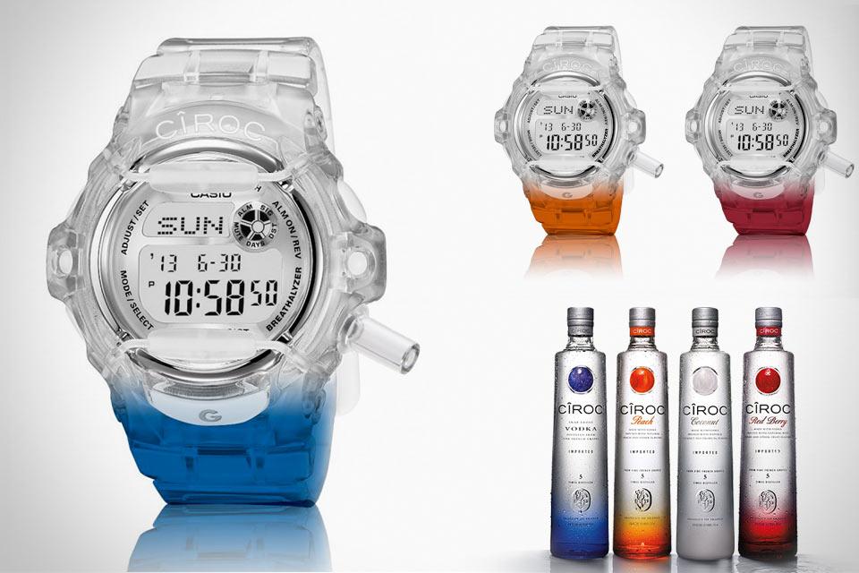 Джи-шоки с алкотестером CIROC x G-Shock Breathalyzer Watch