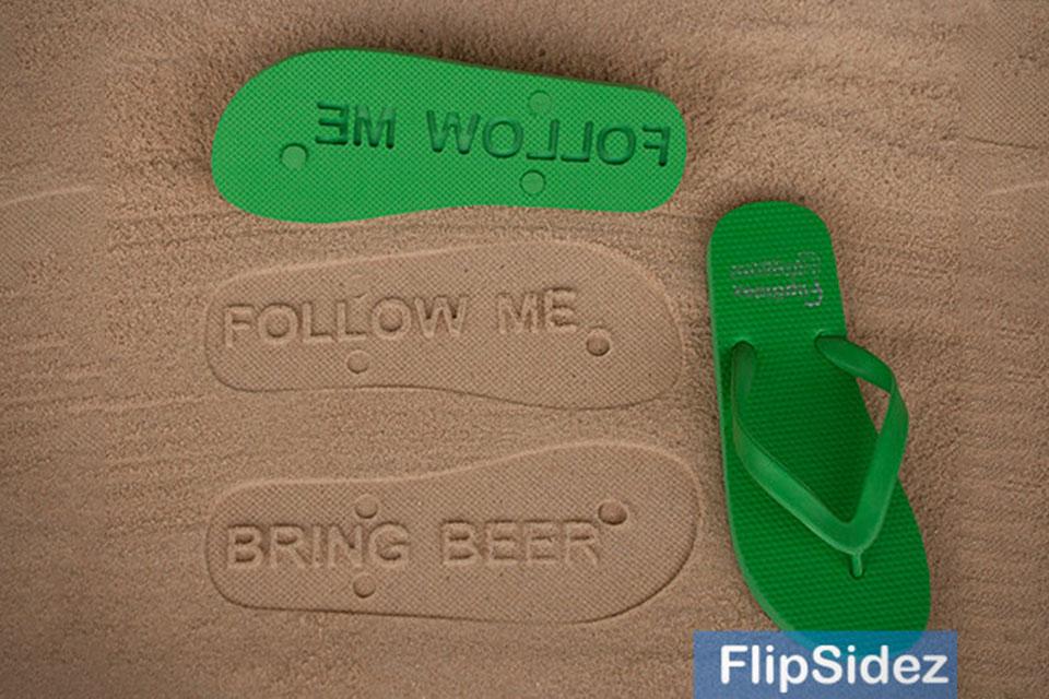Шлепанцы с посланием Custom Flip-Flops