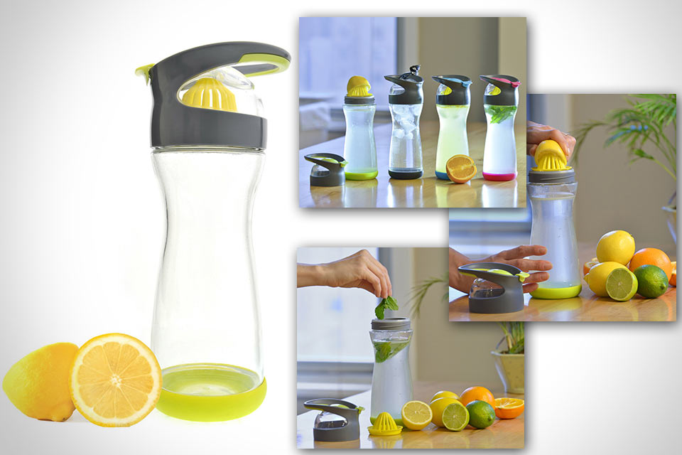 Бутыль со встроенной соковыжималкой Lemon Water On-the-Go