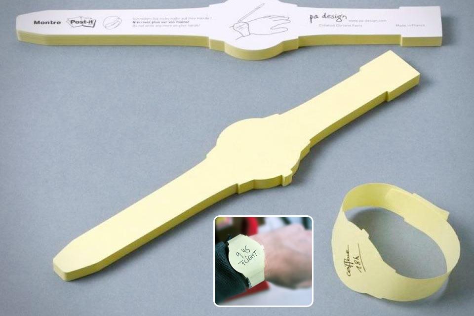 Стикеры-напоминалки Post-it Watch в форме часов