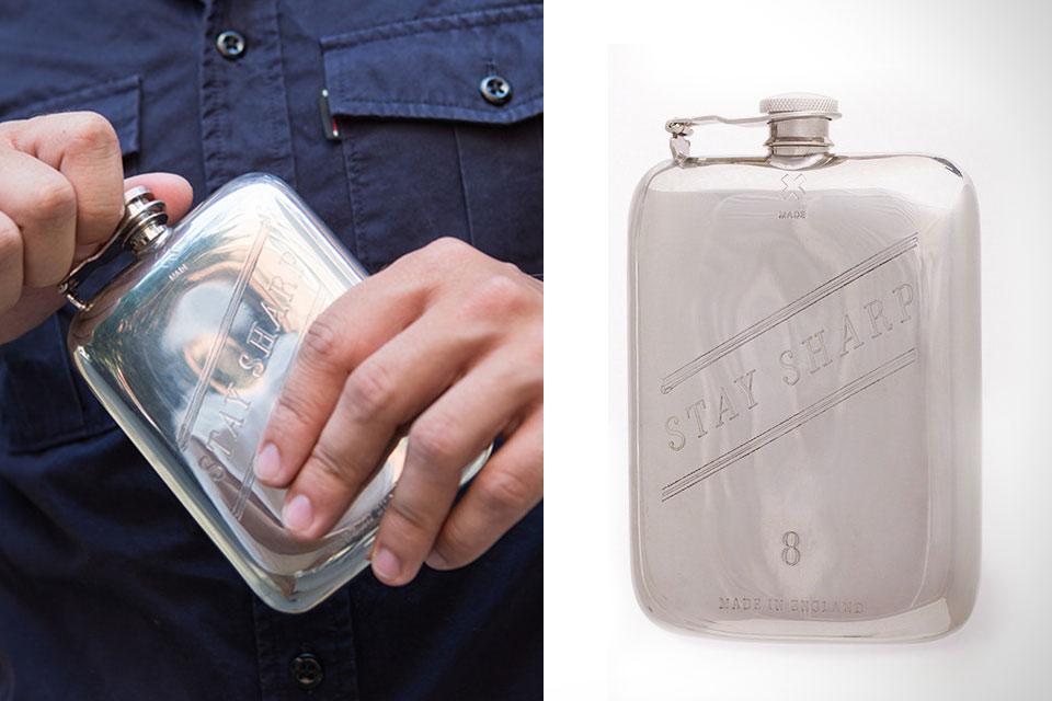 Стальная фляга с чехлом Best Made Flask
