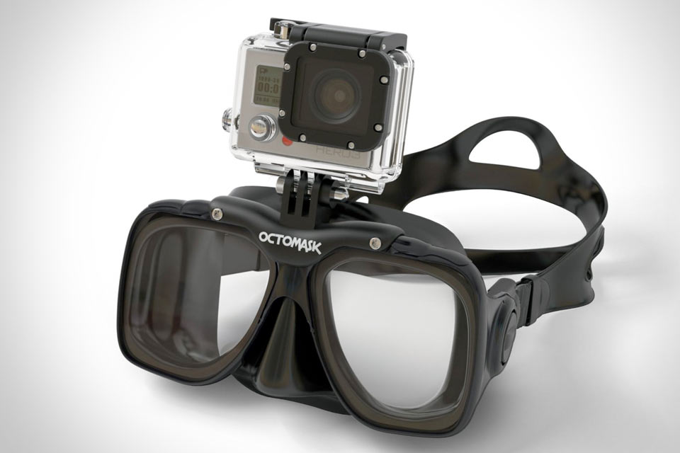 Diving-Scuba-octoMask-with-GoPro-Hero-3-Mount