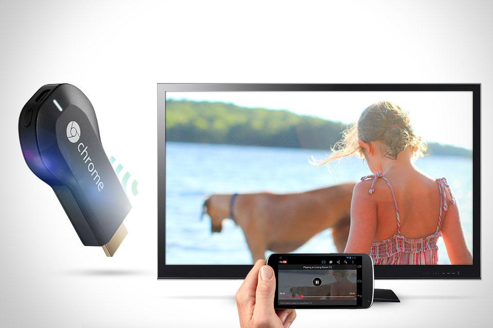 Миниатюрная ТВ-приставка Google Chromecast
