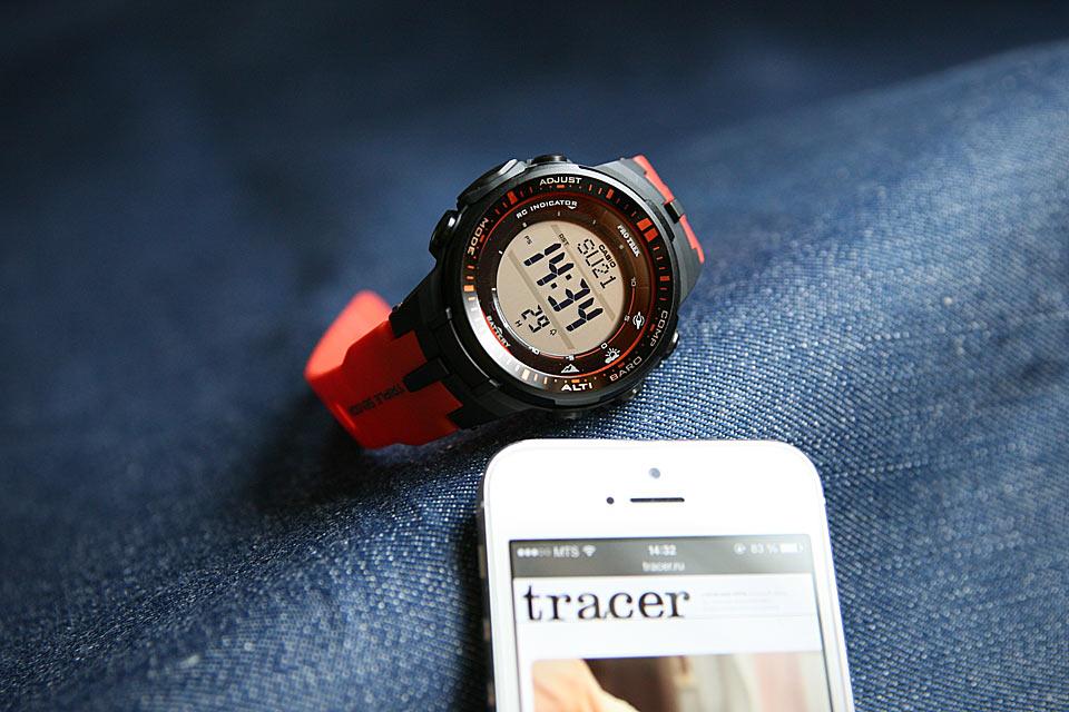 Часы Casio Pro Trek PRW-3000 с тройным сенсором