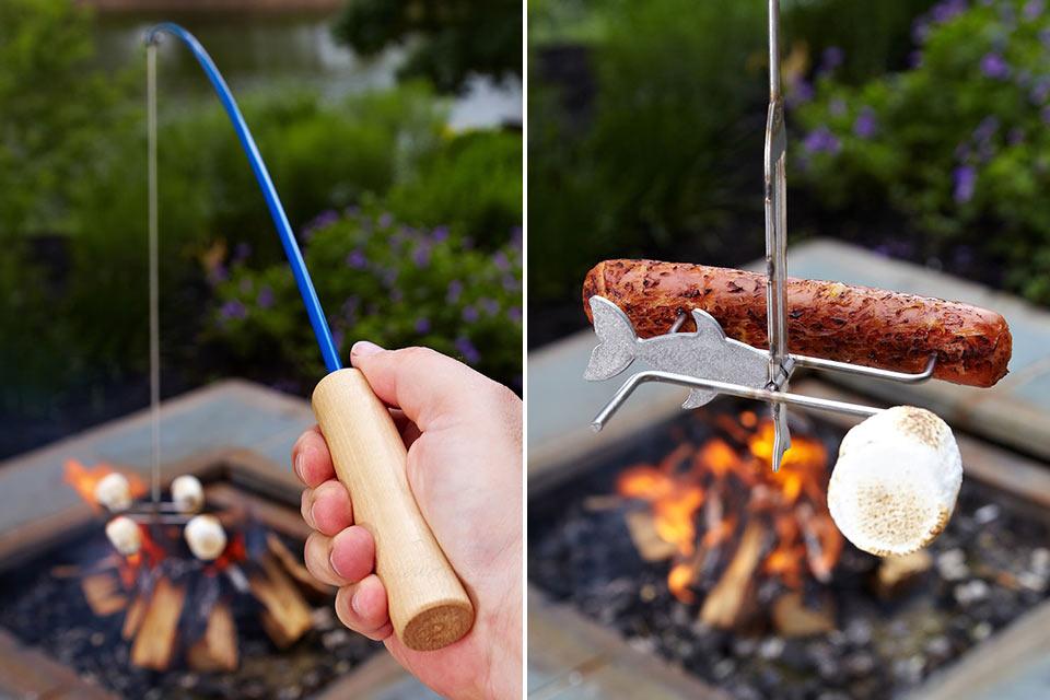 Удочка Campfire Fishing Rod для поджаривания сосисок на пикнике