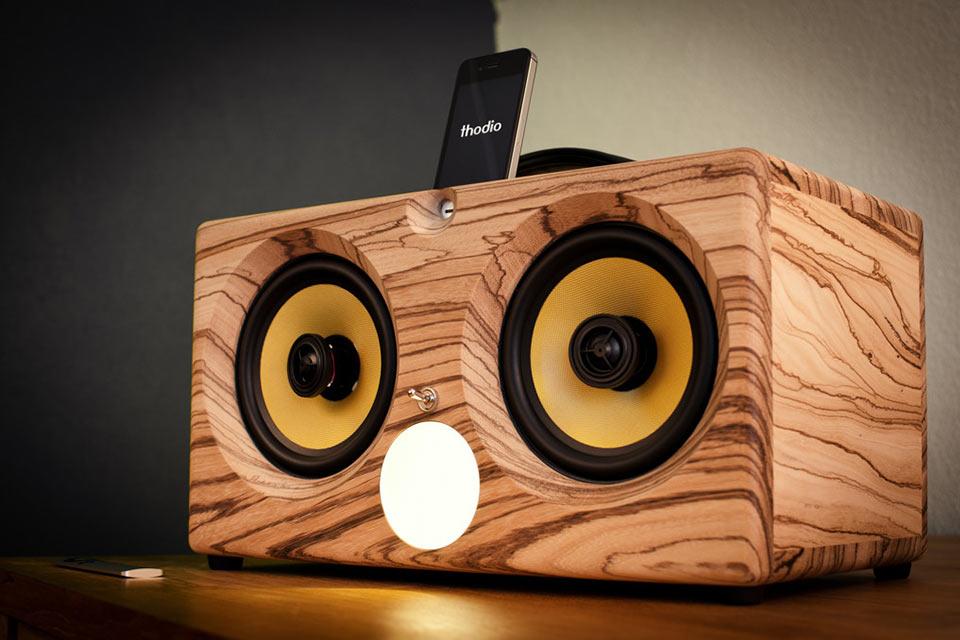 Деревянная Bluetooth мега-акустика Thodio iBox XC