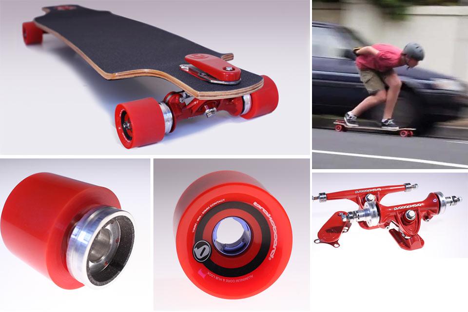 Скейт с дисковыми тормозами Brakeboard