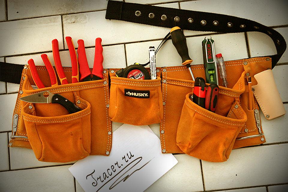 Поясная сумка для инструментов Husky 10-Pocket Suede Apron из замши