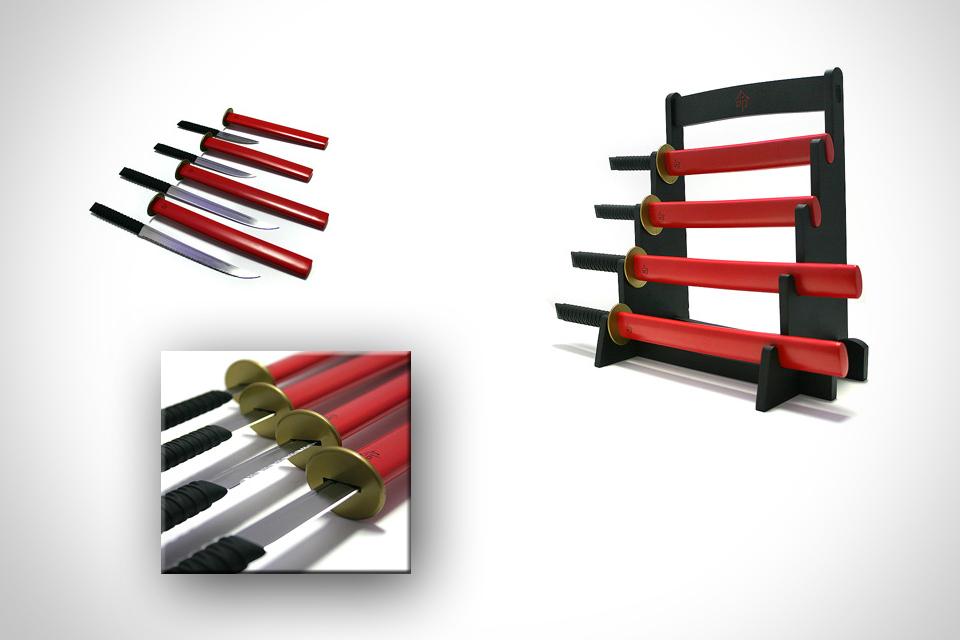 Набор кухонных ножей в японском стиле Samurai Kitchen Knife Set