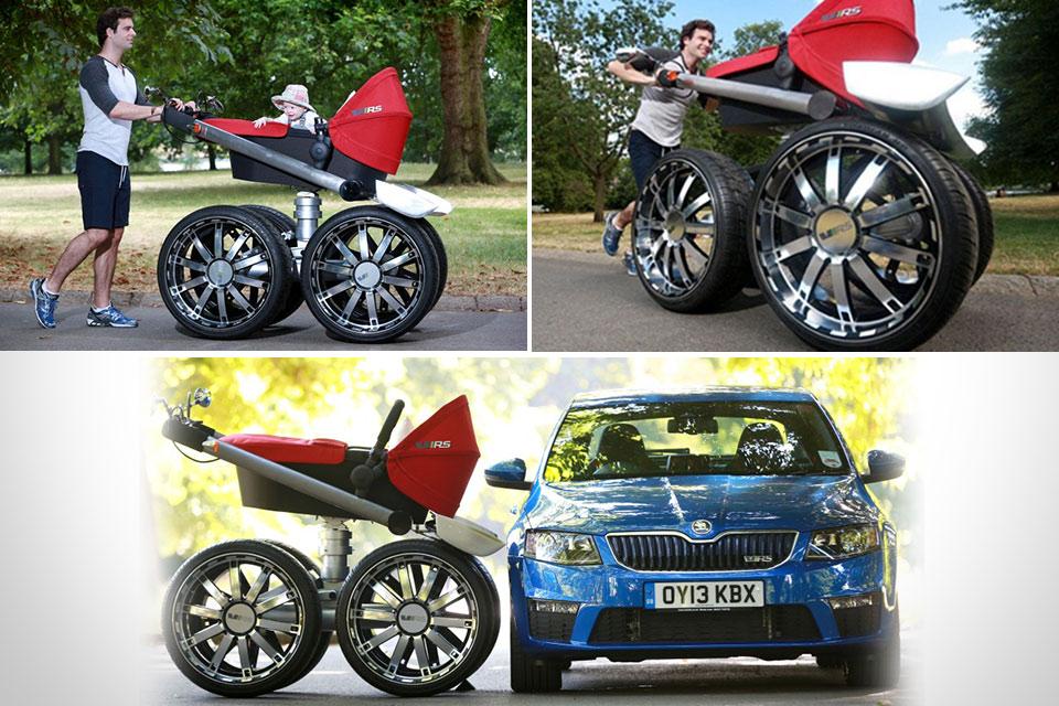 Детская коляска для суровых пап и малышей Skoda vRS Man-Pram