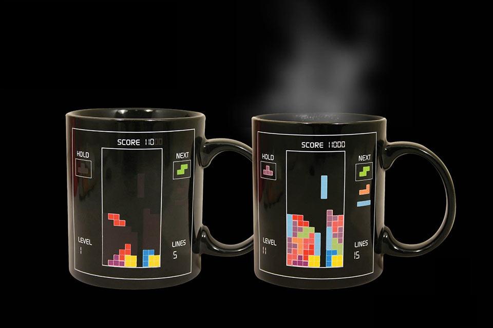 Кружка с тетрисом Tetris Heat Mug