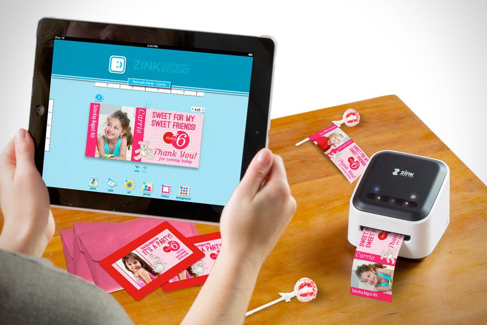 Крохотный принтер ZINK hAppy Smart App для смартфонов