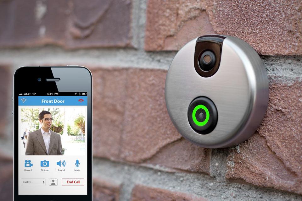 Звонок-камера на дверь iDoorCam с поддержкой Wi-Fi